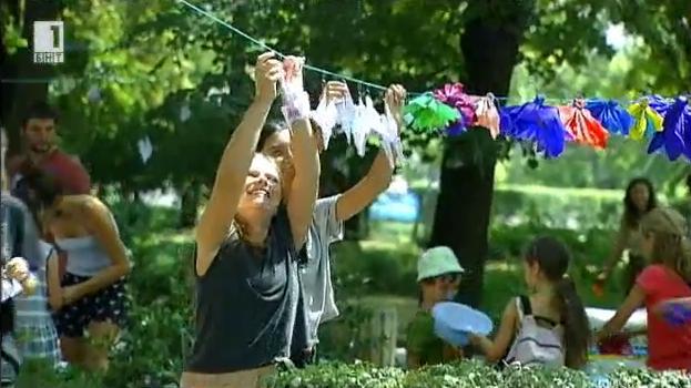 Жерави за Хиромиша в градинката на Св. Климент Охридски