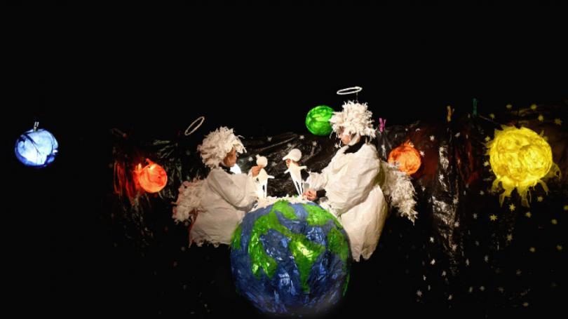 Спектакълът Въздух на Държавен куклен театър Видин