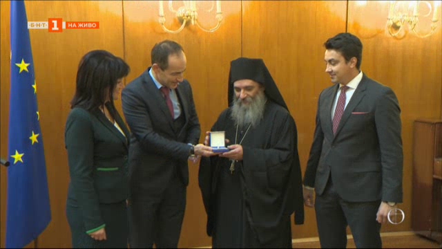Игуменът на Бигорския манастир в Македония - европейски гражданин на годината