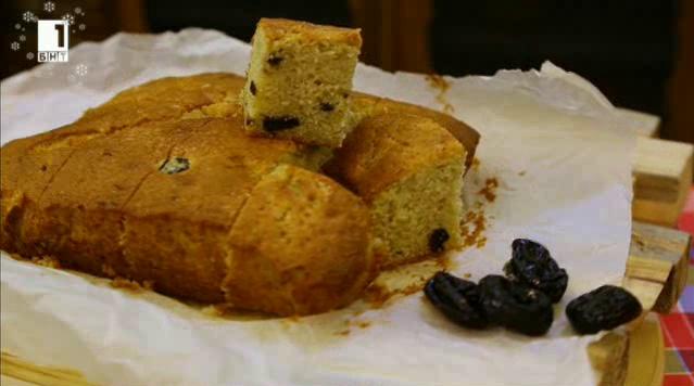 Маслен кекс със сини сливи