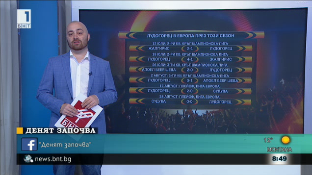 Лудогорец ще играе първия си мач от груповата фаза на Лига Европа