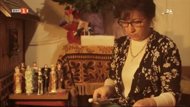 Учителката Иванка Инджова и нейните фигури от рециклирани материали