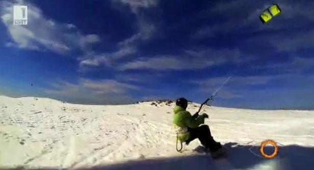 Сноукайтът или как само с чифт ски и хвърчило можем да докоснем небесата