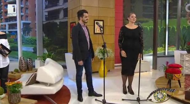 Оперните изпълнители Стефани Кръстева и Емил Павлов с грижа за младите