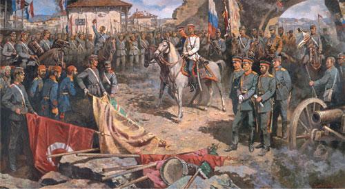 Резултат с изображение за руско-румънските части при Плевен.