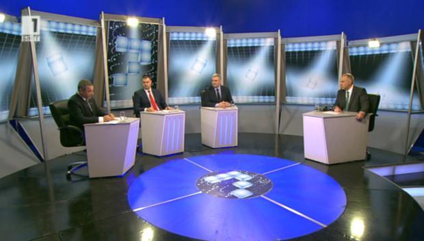 Избор за Европа – Валери Симеонов от НФСБ, Николай Бареков от ББЦ и Ивайло Калфин от АБВ