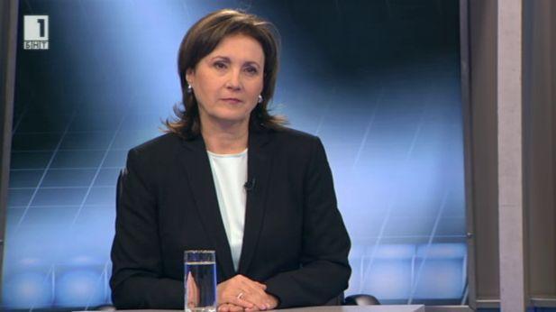 Трудната коалиция в действие - вицепремиерът Румяна Бъчварова