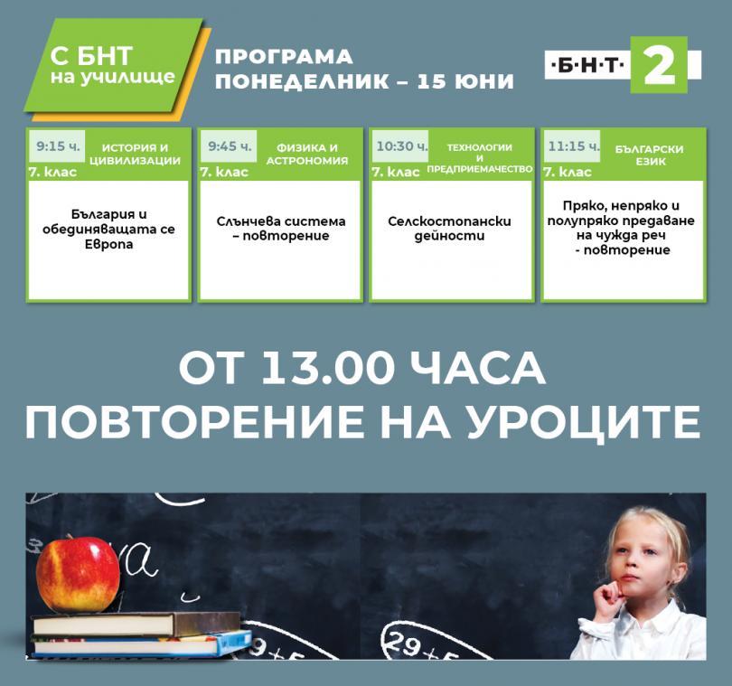 С БНТ2 на училище - 15.06.2020