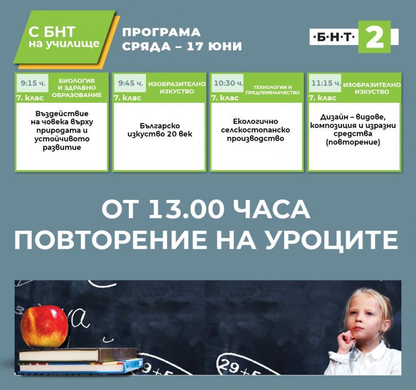 С БНТ2 на училище - 17.06.2020
