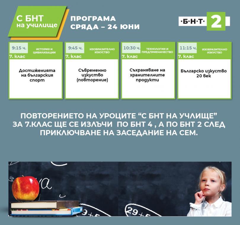 С БНТ2 на училище - 24.06.2020