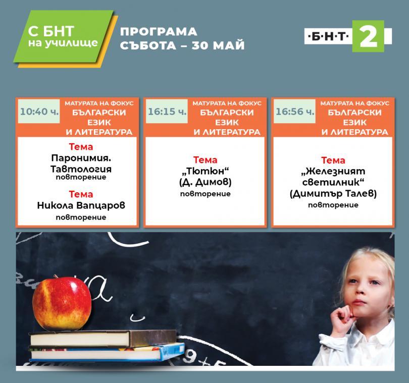 С БНТ2 на училище: Матурата на фокус - 30.05.2020