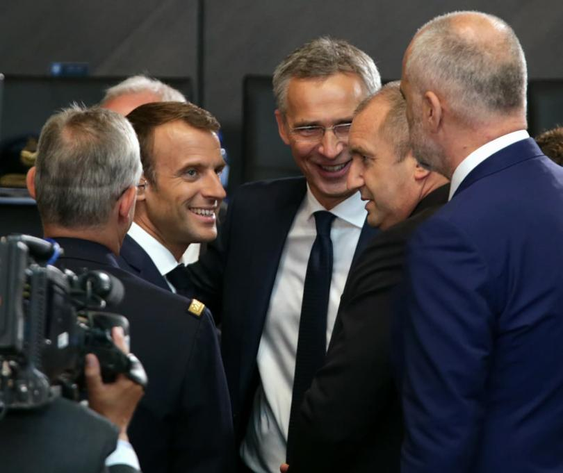 President Radev and French President Macron