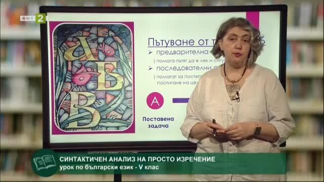 Български език 5. клас: Синтактичен анализ на просто изречение