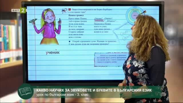 БЕЛ 3.клас: Звукове и букви в българския език – преговор