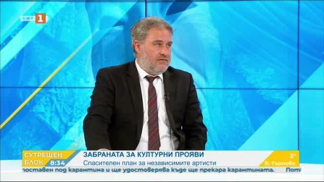 Министър Боил Банов: Ще подкрепя независимия културен сектор
