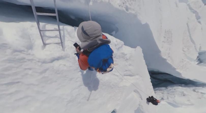 Bulgarian Atanas Skatov Returns to Base Camp after Climbing Everest