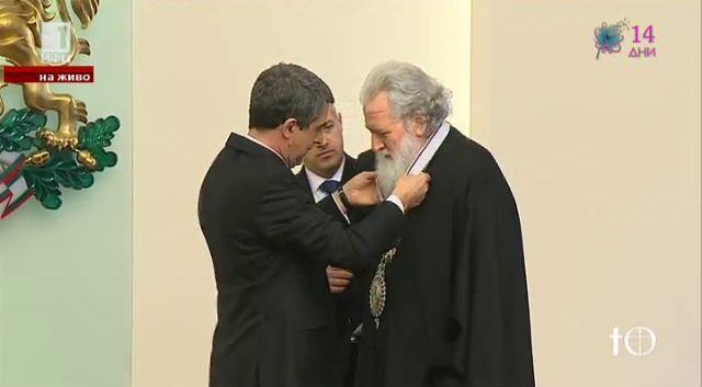 Патриарх Неофит с орден Стара планина