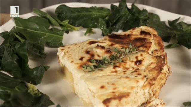 Монашески омлет с крема сирене и картофи
