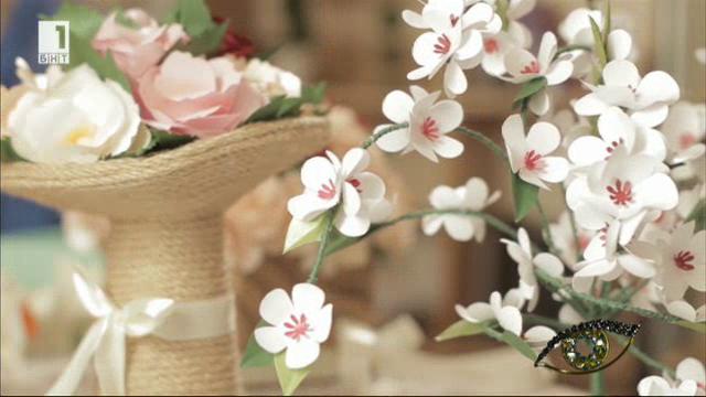 Оранжерия от хартиени цветя