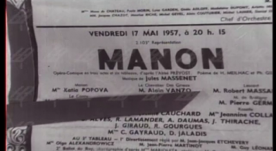 Париж - афиш от 17.05.1957 г.