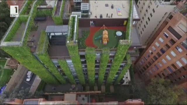 Вертикалната градина Санталая в Богота