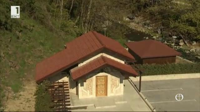 Новостроящ се параклис на св. Павел в Огняновските минерални бани