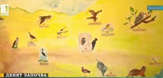 Стенопис със застрашени от изчезване животни посреща ученици във Варна