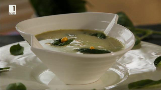 Супа с царевица и тиквички