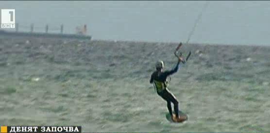 Кайт сърф и през есента