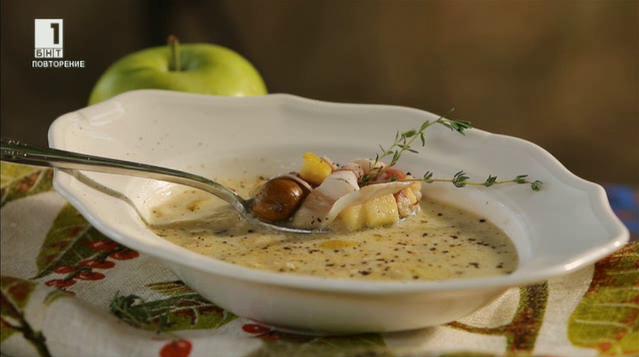 Супа с кестени и праз