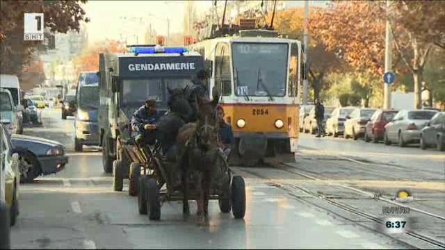 Забрана за движението на каруци в центъра на София