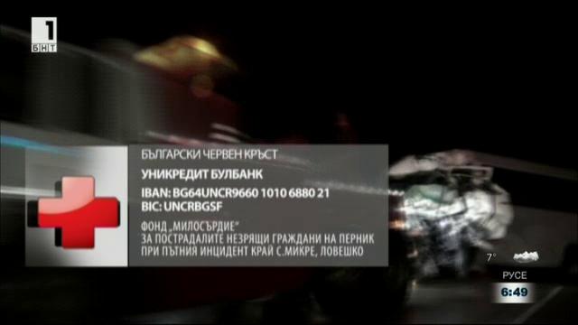 БЧК набира средства за помощ на пострадалите в катастрофата край с.Микре