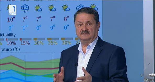 Георги Рачев: Очакват ни ниски сутрешни температури и нормални дневни