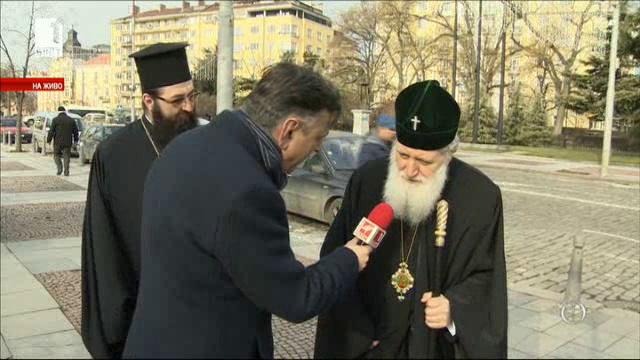 Българският патриарх Неофит и Македонският архиепископ Стефан пред БНТ