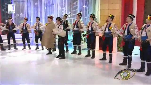 Ямболското коледно хоро на танцьорите от Българе