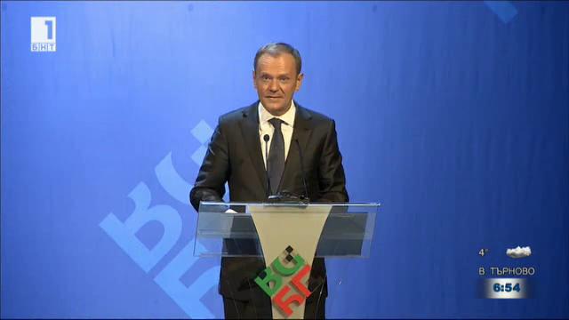Речта на Доналд Туск при откриването на българското европредседателство
