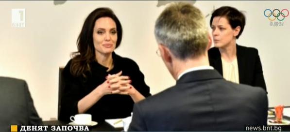 Анджелина Джоли посети щаб квартирата на НАТО