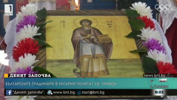 Българските градинари в Унгария почитат Св. Трифон