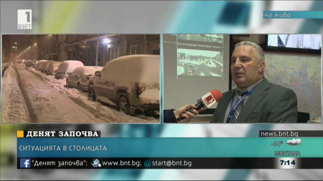 170 снегопочистващи машини работят на територията на София