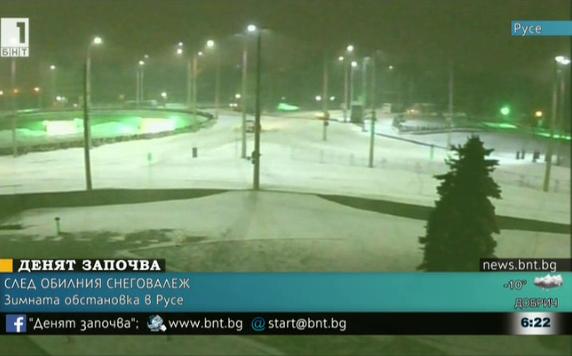 Зимната обстановка в Русе