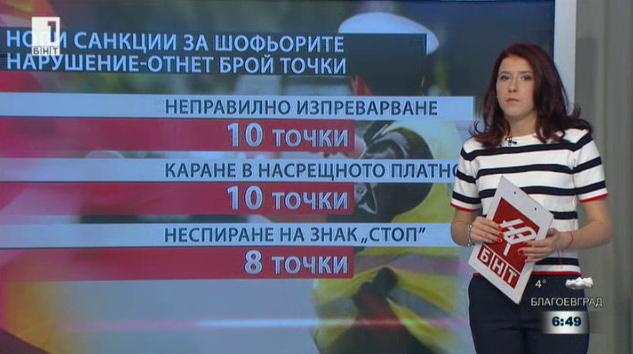 Нови санкции за шофьорите
