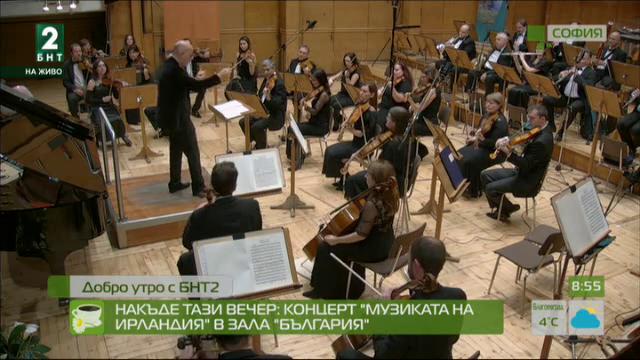 Накъде тази вечер: концерт Музиката на Ирландия в зала България
