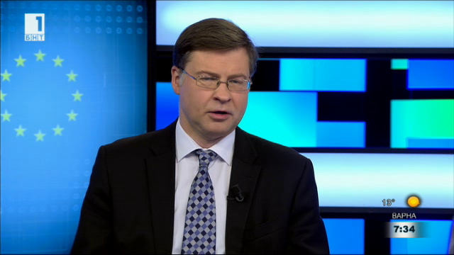 Валдис Домбровскис: България може да влезе в чакалнята на еврозоната до месеци
