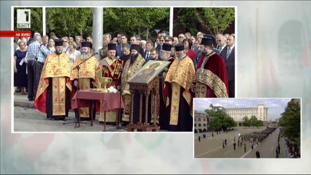 Тържествен водосвет на бойните знамена - пълен запис на церемонията