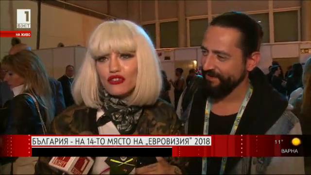 България е на 14-то място на Евровизия 2018