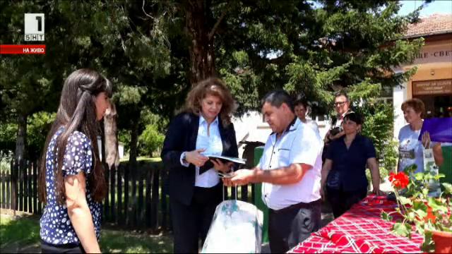 Село Велчево получи нови книги, дарени от зрители на БНТ и вицепрезидента Йотова