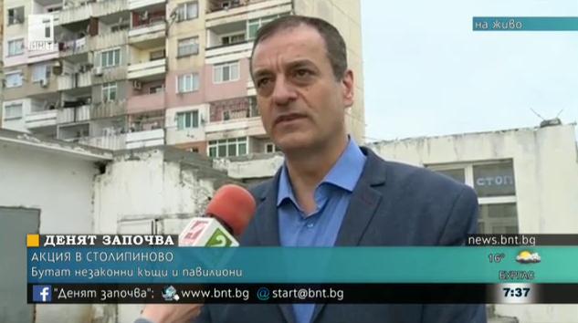 Бутат неазаконни къщи и павилиони в Столипиново