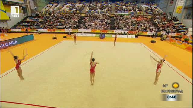За успеха на Европейското по художествена гимнастика в Испания