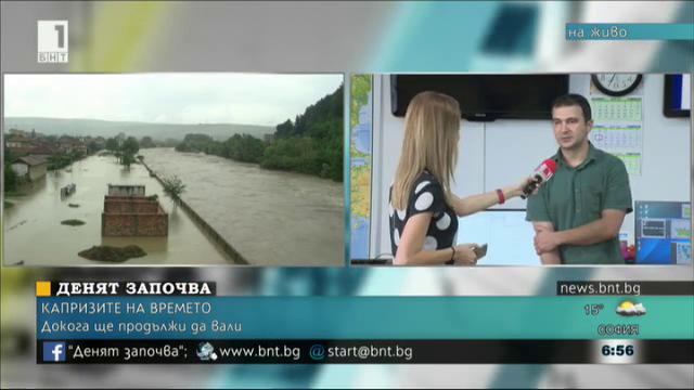 НИХМ: Няма опасност от преливане на реки, времето започва да се стабилизира