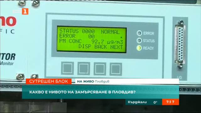Какво е нивото на замърсяване в Пловдив?